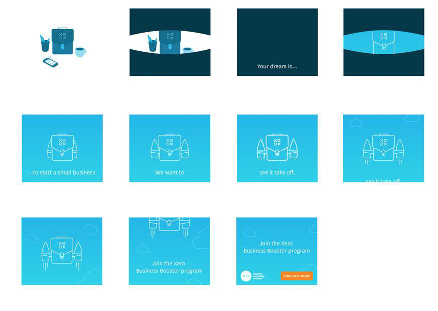 Xero - Suite of animated banner ads by Code and Visual - screenshot