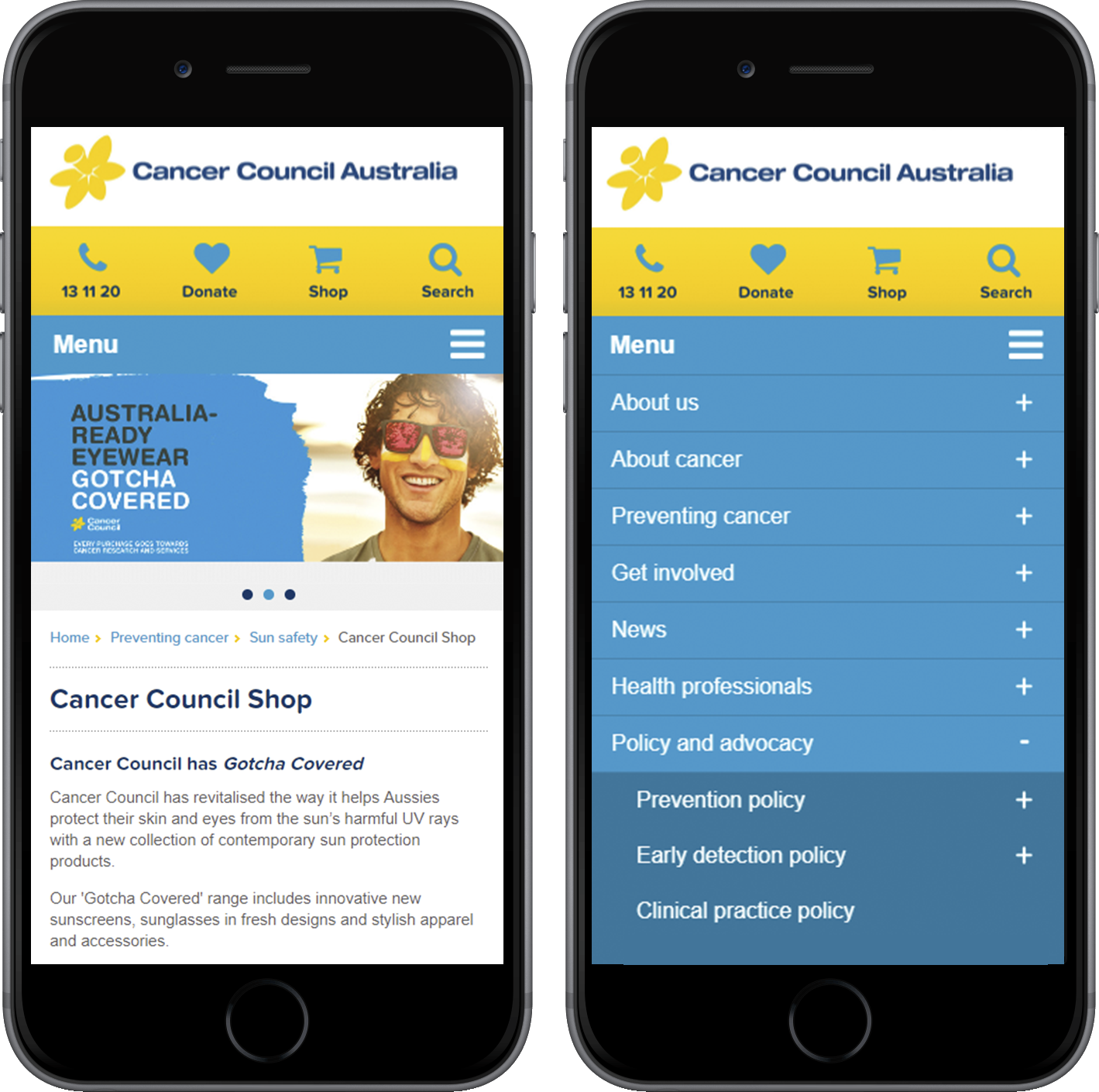 Web Designer Sydney - Cancer Council Website