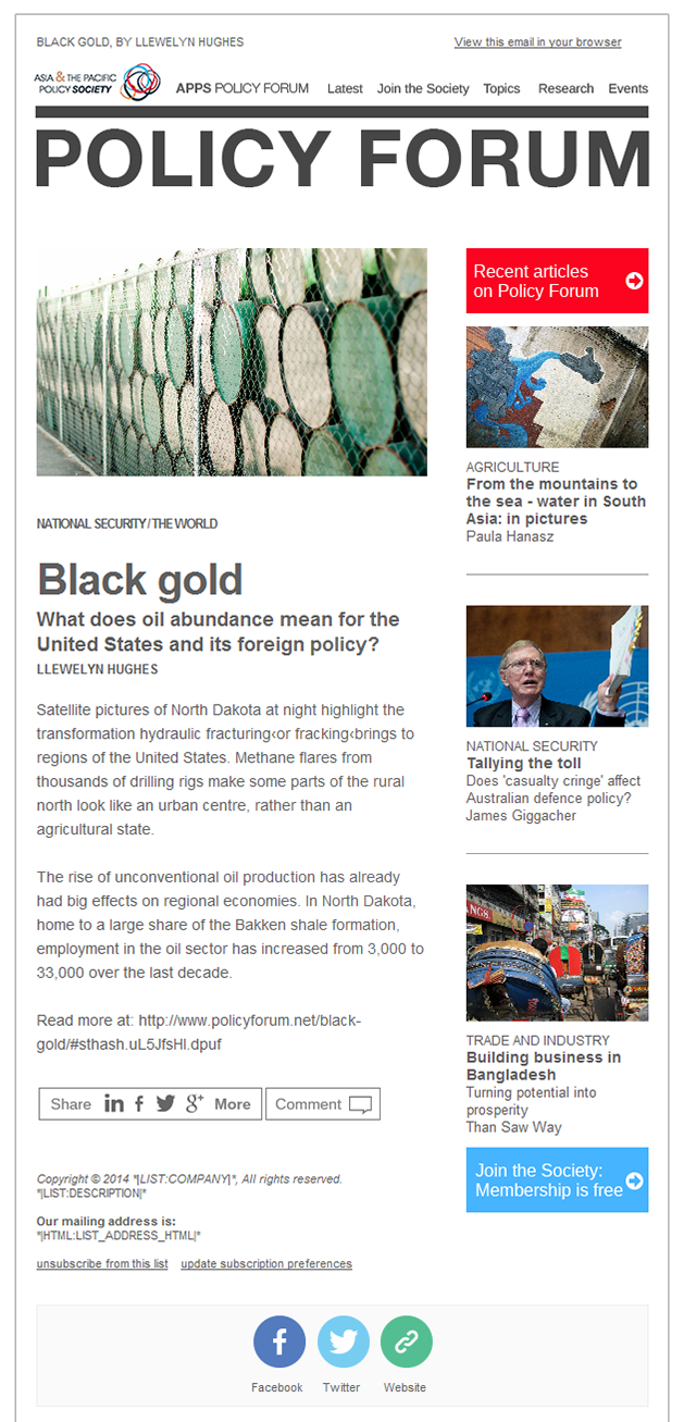 Australian National University - Dynamically generated email newsletter by Code and Visual - mobile screenshot 1