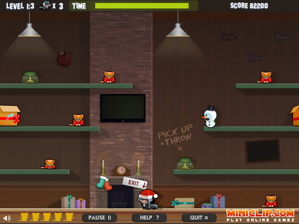 Tooth'n'Claw holiday edition on Miniclip